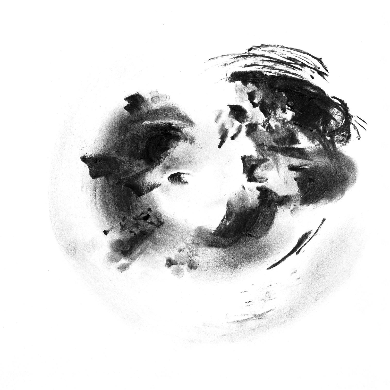 Van de(n) Berk (Berken houtskool op papier, 40×40 cm, 2019-2020)